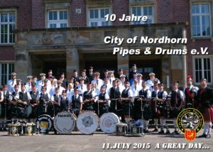 con-pad 10 Jahre City of Nordhorn Pipes & Drums